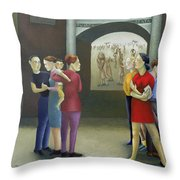 Beata Rwanda Throw Pillow by Caroline Jennings
