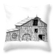 Becks Dairy Throw Pillow by Donald Black