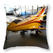 Bede 5 . BD5-B . Kit Airplane Using Honda and Mazda Engines . 7D11166 Throw Pillow by Wingsdomain Art and Photography