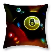 Behind The Eight Ball - Electric Art Throw Pillow by Wingsdomain Art and Photography
