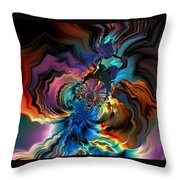 Being Transformed Throw Pillow by Claude McCoy