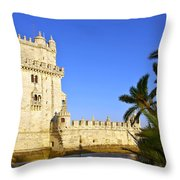 Belem Tower Throw Pillow by Carlos Caetano