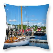 Belfast Harbor Throw Pillow by Susan Cole Kelly