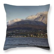 Ben Nevis And Loch Linnhe Panorama Throw Pillow by Gary Eason