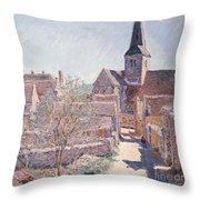 Bennecourt Throw Pillow by Claude Monet