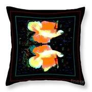 Betta Splendens X2 Throw Pillow by Renee Trenholm