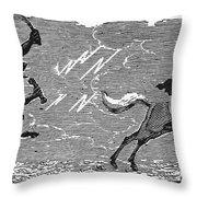 Bewick: Devil Throw Pillow by Granger