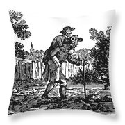 Bewick: Man Carrying Man Throw Pillow by Granger