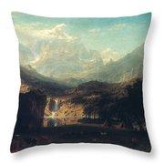 BIERSTADT: ROCKIES Throw Pillow by Granger