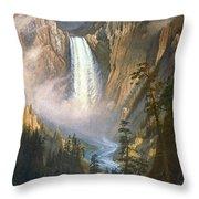 BIERSTADT: YELLOWSTONE Throw Pillow by Granger