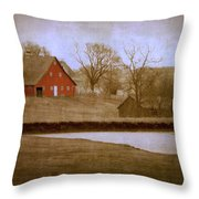 Big Red Throw Pillow by Julie Hamilton