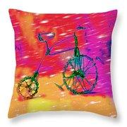 Bike 1a Throw Pillow by Mauro Celotti