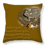 Birthday Party Invitation - Common Toad - Child Throw Pillow by Mother Nature