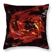 Black And Red Throw Pillow by Deborah Benoit