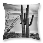 Black and White Couple Throw Pillow by Kelley King