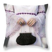 Black Handbag Throw Pillow by Joana Kruse