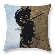 Black Widow Spider Art Throw Pillow by Karon Melillo DeVega
