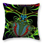 Black Widow Throw Pillow by Wingsdomain Art and Photography