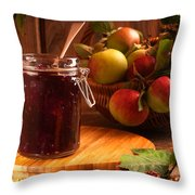 Blackberry And Apple Jam Throw Pillow by Amanda Elwell