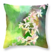 Blessings 1 Throw Pillow by Anil Nene