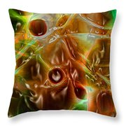 Blood Work Throw Pillow by Peter Piatt
