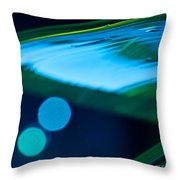 Blue And Green Abstract Throw Pillow by Dana Kern
