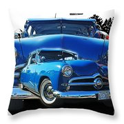 Blue Classic Dbl.hdr Throw Pillow by Randy Harris