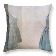 Blue Dress Throw Pillow by Martine Roch