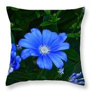 Blue Magic Throw Pillow by Byron Varvarigos