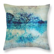 Blue On Blue Throw Pillow by Ann Powell