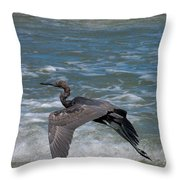 Blue On The Beach Throw Pillow by David Lane