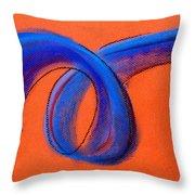 Blue Ribbon Throw Pillow by Hakon Soreide