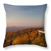 Blue Ridge Parkway Linn Cove Viaduct Throw Pillow by Dustin K Ryan