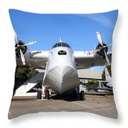 Boac British Overseas Airways Corporation Speedbird Flying Boat . 7d11246 Throw Pillow by Wingsdomain Art and Photography