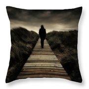 Boardwalk Of Doom Throw Pillow by Meirion Matthias