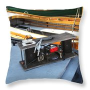 Boat Builders Music Box Throw Pillow by Kym Backland