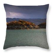 Boat On Loch Sunart, Scotland Throw Pillow by John Short