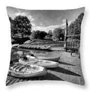 Boats At The Pond Throw Pillow by Jay Lethbridge