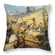 Boer War Skirmish Throw Pillow by James Edwin McConnell
