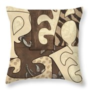 Bohemian Peace Throw Pillow by Debbie DeWitt