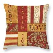 Bohemian Red Spice 1 Throw Pillow by Debbie DeWitt