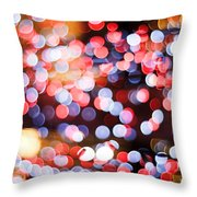 Bokeh Throw Pillow by Setsiri Silapasuwanchai