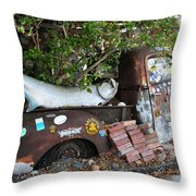 B.o.'s Fish Wagon - Key West Florida Throw Pillow by Bill Cannon