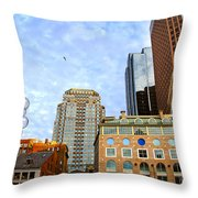 Boston Downtown Throw Pillow by Elena Elisseeva