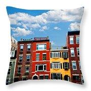 Boston Houses Throw Pillow by Elena Elisseeva