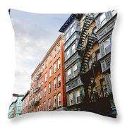Boston Street Throw Pillow by Elena Elisseeva