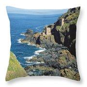Botallack Mine Throw Pillow by Botallack Mine
