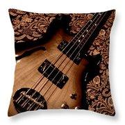 Botanical Bass Throw Pillow by Chris Berry