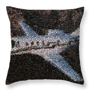 Bottle Cap Cessna Citation Mosaic Throw Pillow by Paul Van Scott