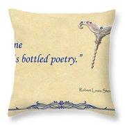 Bottled Poetry Throw Pillow by Elaine Plesser